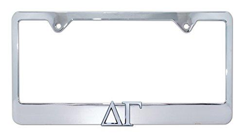 (Delta Gamma Sorority Chrome Metal License Plate)