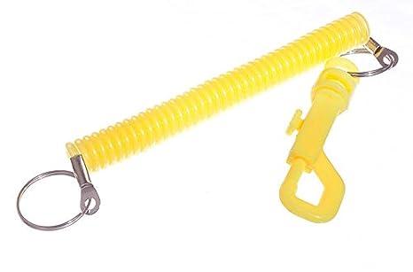Nueva Espiral extensible/Retráctil Llavero Cinturón Clip ...