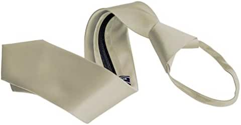 Men's Zipper Tie by Romario Manzini Neckwear Collection - Beige