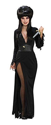 Deluxe Vampire Wig In Black (Super Deluxe Elvira Costume - X-Small - Dress Size)