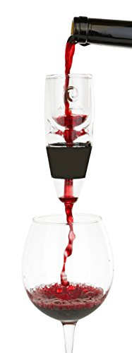 """Real""""GLASS"""" Wine Aerator - Decanter Pourer To Enhance Flavor & Aroma In Wine - Recommended By The Wine Cave"""