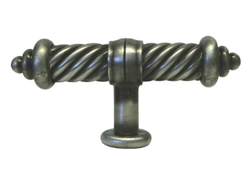 Pewter Flute - 25 Pack Antique Pewter Kitchen Cabinet Hardware Flute Handle Pull Knobs 3-3/8 Inch (93mm)