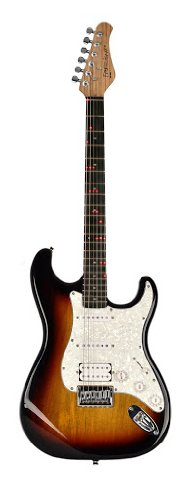 Fretlight Traditional Electric Guitar with Built-in LED Lighted Learning System, Sunburst (FG-521SB)