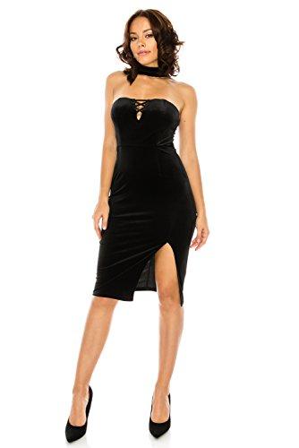 glam black midi dress - 6