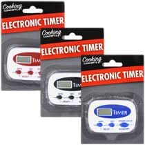 Cooking Concepts Digital Electronic Kitchen Timers Sold as Set Of 3 with a Calculator