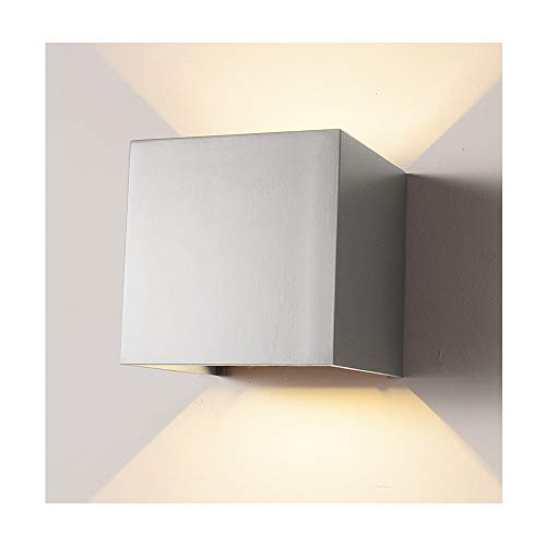 LED Aluminum Waterproof Wall Lamp,12W 85-225V 3000K Adjustable Outdoor Wall Light Warm Light 3.94