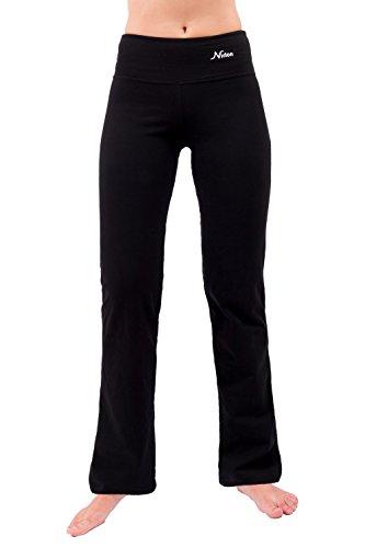 NIRLON Yoga Pants for Women Bootcut Tummy Control Athletic Workout Leggings Flare Leg 28/30/32/34 Inseam Petite/Tall