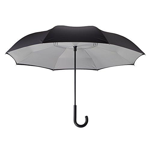 Designed Umbrella (Galleria's Reverse Close Umbrella, Black/Grey…Uniquely designed inverted umbrella.)