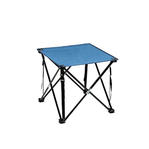 SYDDP Outdoor Folding Table Lightweight Iron Table Portable Light Folding Table Barbecue Stall Camping 47cm×47cm×45cm (Color : -