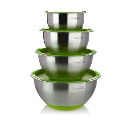 WP 8 piece Mixing Bowl Set Green by Wolfgang Puck