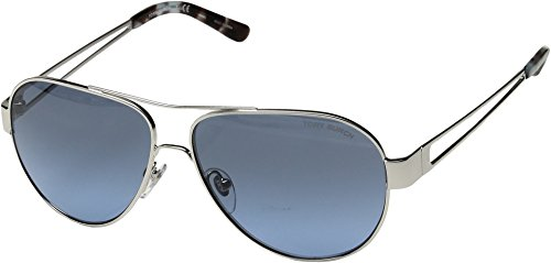 Tory Burch Women's 0TY6060 55mm Silver/Blue Grey Gradient One - Burch Tory Silver