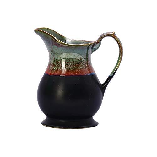 Caffeine Ceramic/Stoneware Water Jug/Pitcher with Glossy Black Base and Multicolour Studio
