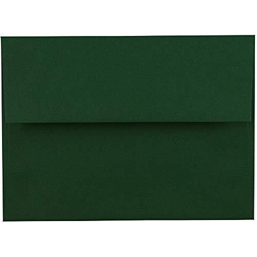 - JAM PAPER A6 Premium Invitation Envelopes - 4 3/4 x 6 1/2 - Dark Green - 50/Pack