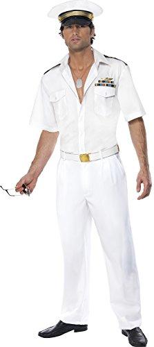 [Smiffys Top Gun Captain Costume (Medium)] (Top Gun Halloween Costume Uk)