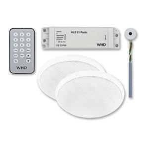 WHD 106005030200400 - Sistema de radio HLS 51 (2 altavoces para el techo, mando a distancia)