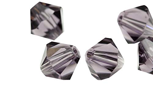 - 200pcs 5mm Adabele Austrian Bicone Crystal Beads Dark Violet Compatible with Swarovski Crystals Preciosa 5301/5328 SSB522