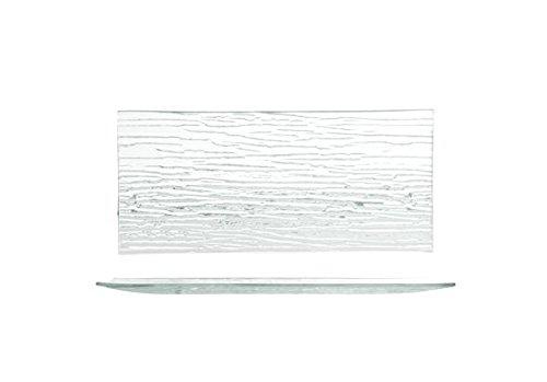 Plato de vidrio 'Bambú'