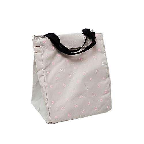 LEERYAAY Insulated Cold Canvas  Picnic Carry Case Thermal Portable Lunch Bag C from LEERYAAY