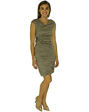 Womens Metallic Sleeveless Party Dress