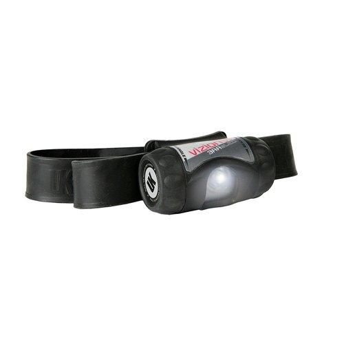 Underwater Kinetics UK Vizion eLED 3AAA Headlamp with Black/Silver Strap, Black - Lamp Underwater Kinetics