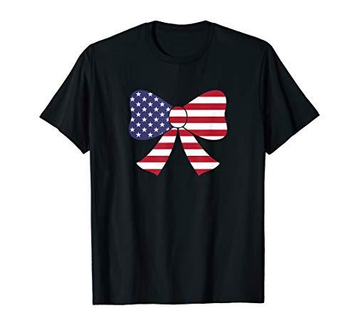 Bow Tie American Flag USA T-Shirt