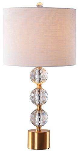 "JONATHAN Y JYL5017A Ashley 25.25"" Crystal Table Lamp, Clear/Brass Gold"