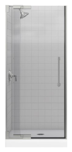 Purist Frameless PIVot Shower Door with 0.375