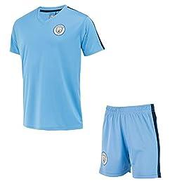 Manchester City Ensemble Maillot + Short Collection Officielle - Taille Enfant garçon