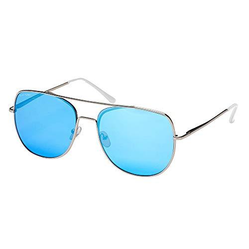 Blue Planet Eyewear Sydney Polarized Sunglasses - Women's Silver/Frost Crystal Clear Tips, One ()