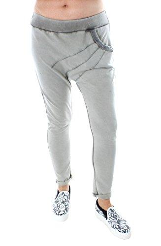 Italy Fashion Damen Jogging Hose Pant Schlammfarben Boyfriend Style