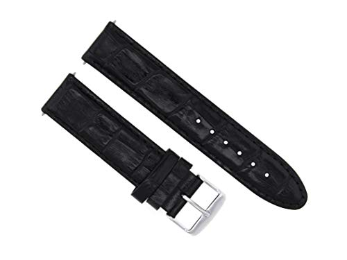 18MM Leather Watch Strap Band for Omega SEAMASTER SPEEDMASTER Moon TQ Black #5 - Moon Speedmaster Watch Omega