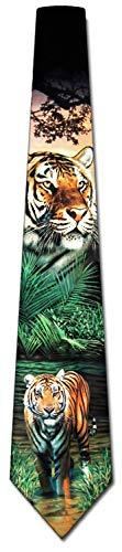 Tiger Tie Mens Neckties Tie by Ralph - Ralph Mens Necktie Marlin
