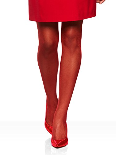 Petite Spandex Pantyhose (Berkshire Queen Shimmers Ultra Sheer Control Top Pantyhose - Sandalfoot, Red, Queen Petite)