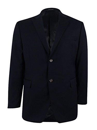 Lauren Ralph Lauren Mens Lined Double Vent Sportcoat Navy (Ralph Lauren Lined Blazer)
