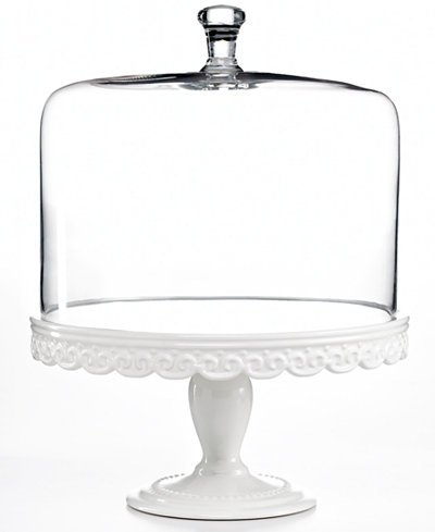 Collection Serveware, Embossed Cake Stand with Dome