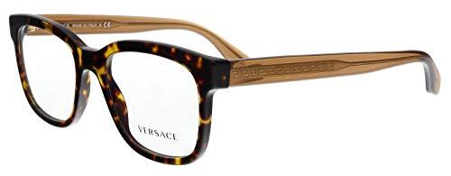 Versace Men's VE3239 Eyeglasses Havana 52mm ()