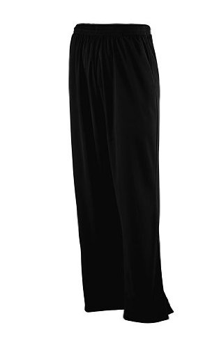 Solid Brushed Tricot Pant - Style 725 - Black - Medium