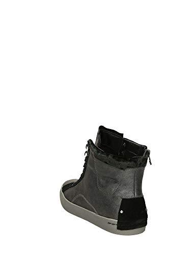 Pelle Sneaker London Scarpe In Grigio Scamociata Da Donna Alte 25000aa1 Anfibio Crime CR7HUwqq