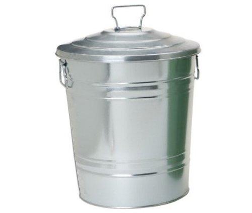 (Houston International 5800 Steel 7-Gallon Storage Container, Silver)