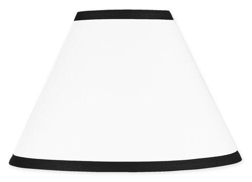 Sweet Jojo Designs White and Black Modern Hotel Lamp Shade ()