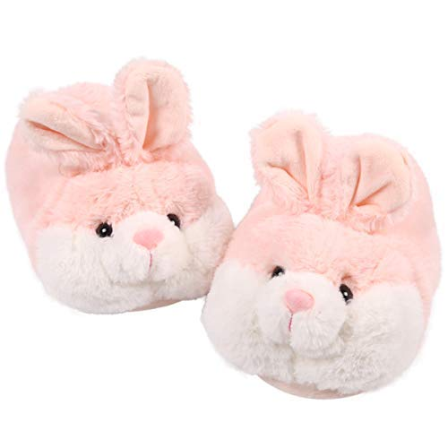 Classic Bunny Slippers | Fuzzy Animal Slippers | Cozy Cute Rabbit Slippers| Adorable Bunny Costume Gift (7-8, Pink) -