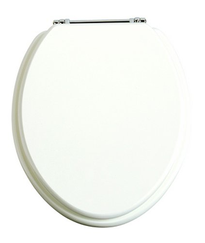 Heritage White Gloss Seat Chrome Hinges HWG101