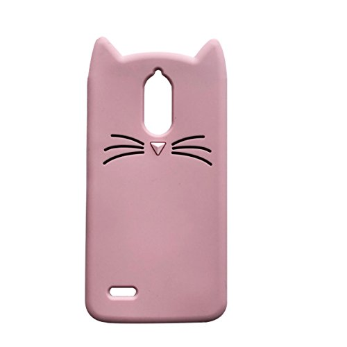 LG Stylo 3 /LG Stylo 3 Plus Case, iFunny Cute 3D Cartoon Animals Fortune Beard Cat Shockproof and Protective Soft Silicone Rubber Phone Case for LG Stylus 3 /LG LS777 (Pink Beard Cat)]()