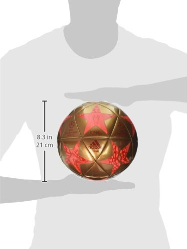 adidas Performance Champions League Finale Cardiff Capitano Soccer Ball, Copper Metallic/Solar Red/Bright Red, Size 5