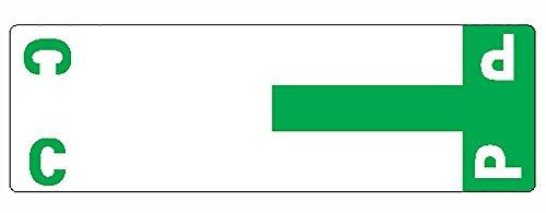 (Smead AlphaZ NCC Color-Coded Labels, Letters C&P, Dark Green, 100 Labels per Pack (67154))