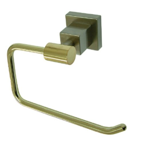 Estate Nickel Toilet Paper Holder (Kingston Brass BAH8648Z3SNPB Claremont Toilet Paper Holder, Satin Nickel and Polished Brass)