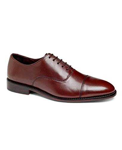 (Anthony Veer Men's Dress Shoe Clinton Cap-Toe Oxford Full Grain Leather Goodyear Welted (7 D(M) US, Chocolate Brown Full Grain Calfskin - Leather Sole))