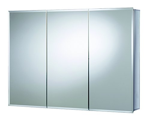 Croydex Burwell 30-Inch x 48-Inch Triple Door Tri-View Cabinet with Hang 'N' Lock Fitting System (48 Inch Mirror Medicine Cabinet)