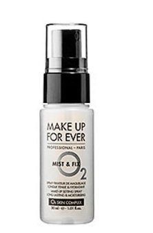 MAKE UP FOR EVER Mist & Fix Make-Up Setting Spray 1.01 fl. oz. Travel Size (Jade Mist Finish)