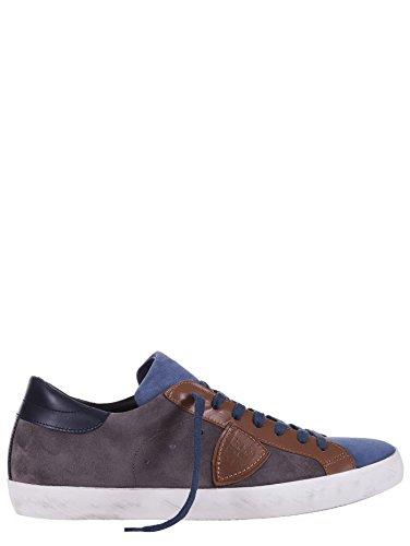Philippe Model Classic Lu MIXAGE Sneakers Uomo Camoscio Marrone, Lacci, Suola in Gomma